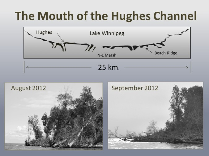 The Mouth of the Hughes Channel 25 km shoreline