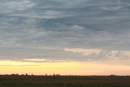 Big skies over the prairies. Photo copyright Tim Poole