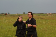 Joan and Christian with a storm brewing. Photo copyright Tim Poole