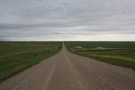View along the road into the Blind Souris. Note the tamed pasture on the right hand side. Photo copyright Tim Poole