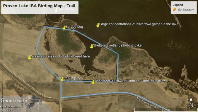 Proven Lake Trail Map