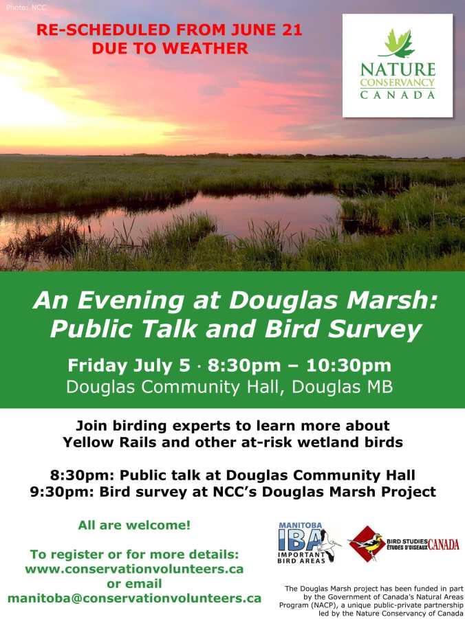 Douglas Marsh Bird Poster - Rescheduled 2-1